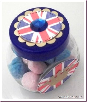 Diamond Jubilee Crafts. sweet jar favour