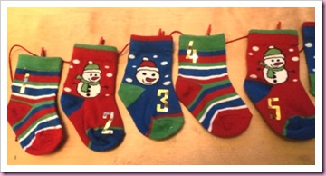 Advent Sock Calendar 1