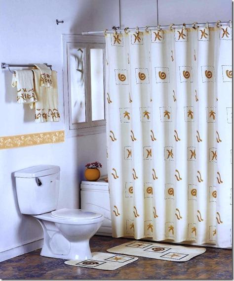 bathroom beach curtain ideas