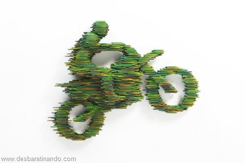arte com tubos de pvc 3D velocidade desbaratinando  (7)