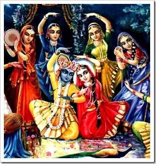 Radha, Krishna and the gopis