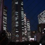the view from my hotel room at nishi shinjuku hotel in Chiba, Tokyo, Japan