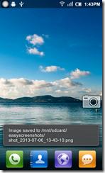 تطبيق سكرين شوت لإلتقاط صور لشاشة الأندرويد يقوم بحفظ الصور فى المجلد المحدد مسبقا بواسطة المستخدم