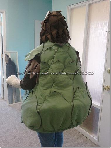 disfraz de alcachofa