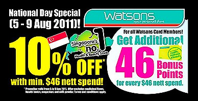 Watsons Singapore National Day sale