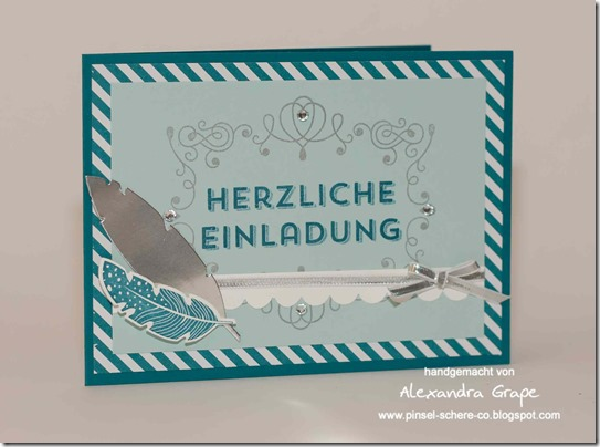 stampin-up_einladung_four-feathers_federn_Winterwerke_petrol_encore-silber_aufgeblüht_alexandra-grape_03