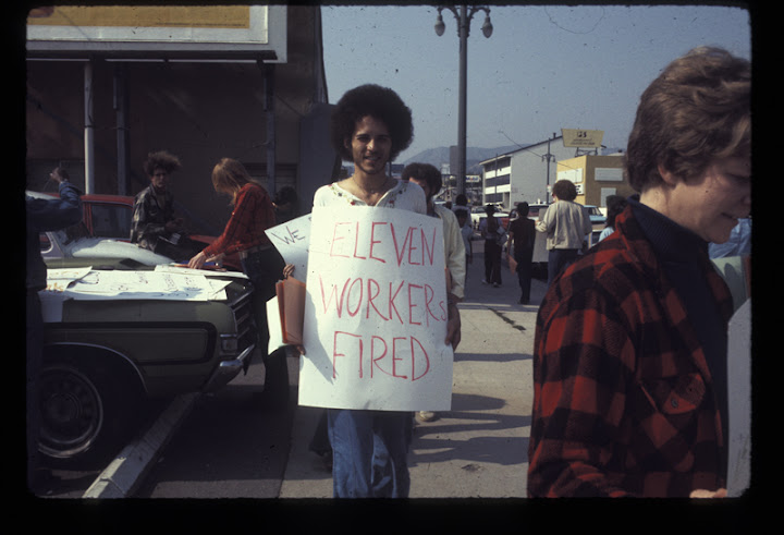 Picketers at the Gay Community Services Center (GCSC). After May 01, 1975