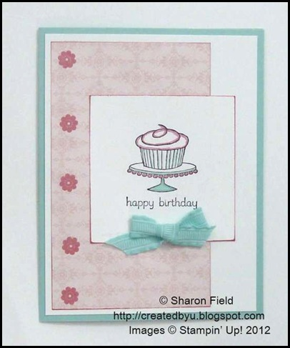 second card for senior stampers.. a remake of last week's layered card