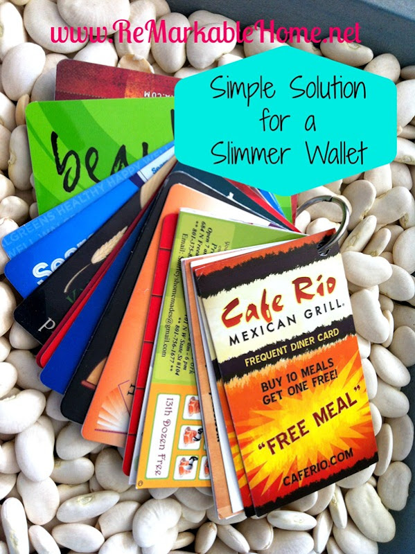 Simple Solution to a Slimmer Wallet @ ReMarkableHome.net