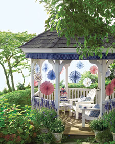 Stars and Stripes Gazebo Trim