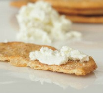 Vegan Ricotta on Crackers