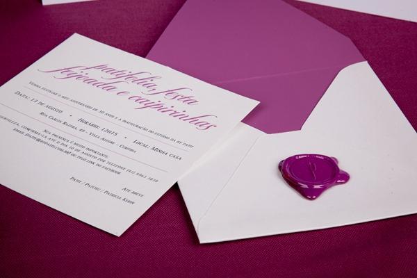 patit convite aniversário identidade personalizado rosa lacre de cera IMG_3822 (13)