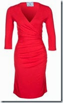 Andrea and Renato Ruched Red Jersey Dress