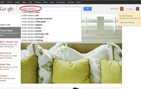 keyword research with Google product