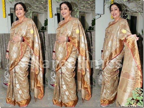 Kirron_Kher_Cream_Bridal_Silk_Saree
