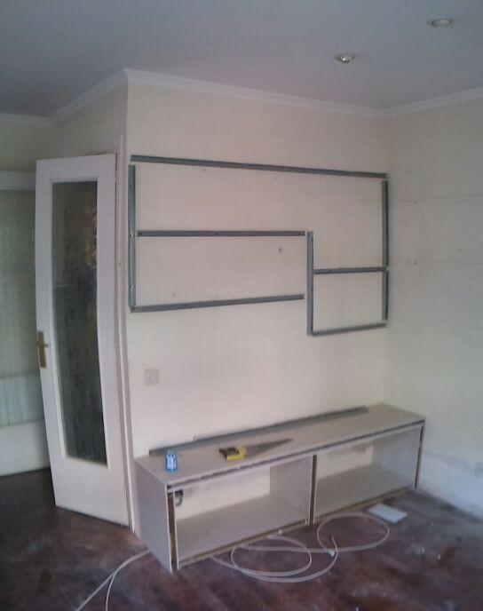 Pladur barcelona mueble para televisi n - Muebles en pladur ...