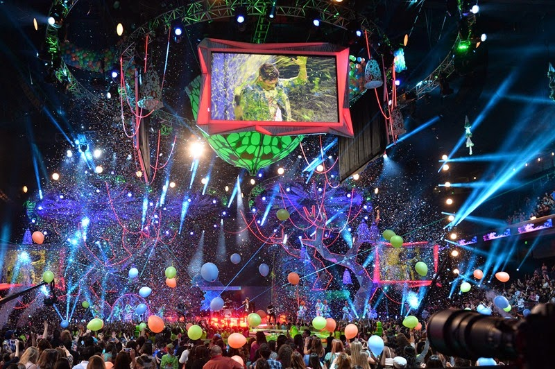 onstage during Nickelodeon's 27th Annual Kids' Choice Awards held at USC Galen Center on March 29, 2014 in Los Angeles, California.
