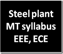 steel plant mt syllabus