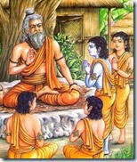[Rama and brothers at school of the guru]