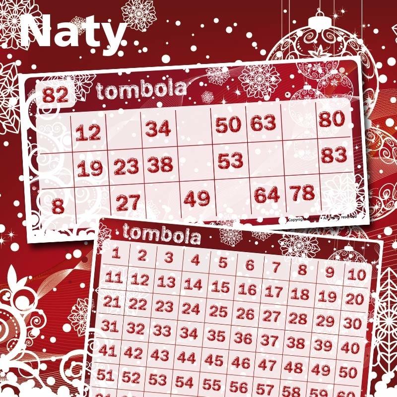 Cartelle tombola Naty