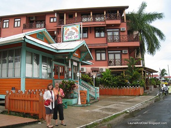 Pat and Becky in Bocas town