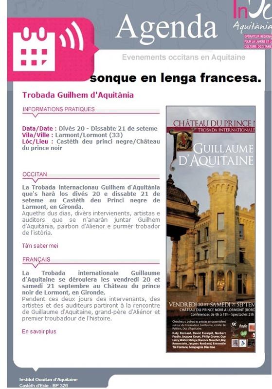 Trobada istorica en Aquitània