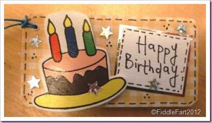 Wooden Birthday Cake tag
