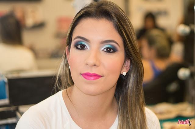 maquiagem azul esfumada