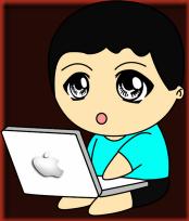 Doodle Lelaki Main Laptop Turqoise