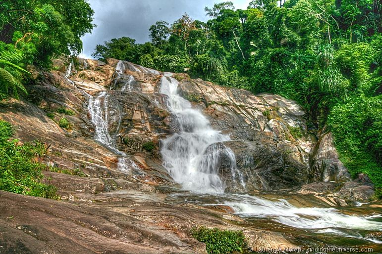 Namtok Karom waterfall level 7 Khao Luang National Park Thailand