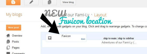 screen shot favicon location