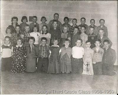 3rd grade class 1958 and 1959 Mrs Stearns Third Grade Osage MN