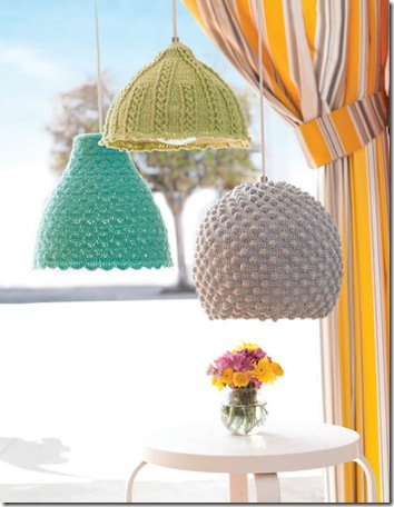 crochet lamp shades