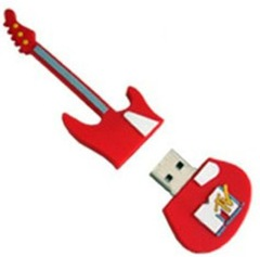 Microware Guitar Red Shape Designer 4 GB Pendrive