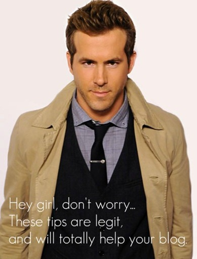 Ryan Reynolds blogging tips photo