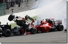 L'incidente del gran premio del Belgio 2012