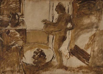 Edgar Degas, Nude Woman Drying Herself, 1884-1892