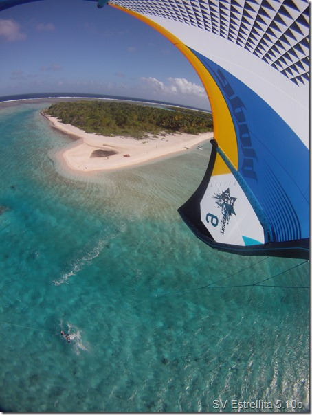 Kiting in the Tuamotus, French Polynesia