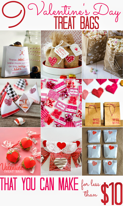9 Valentine's Day Treat Bags (that you can make for less than $10!)