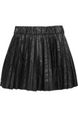 Karl Sachi pleated faux leather skirt