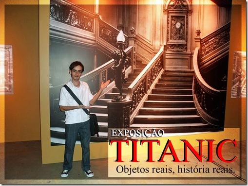 Rodrigo Piller na Exposição do Titanic