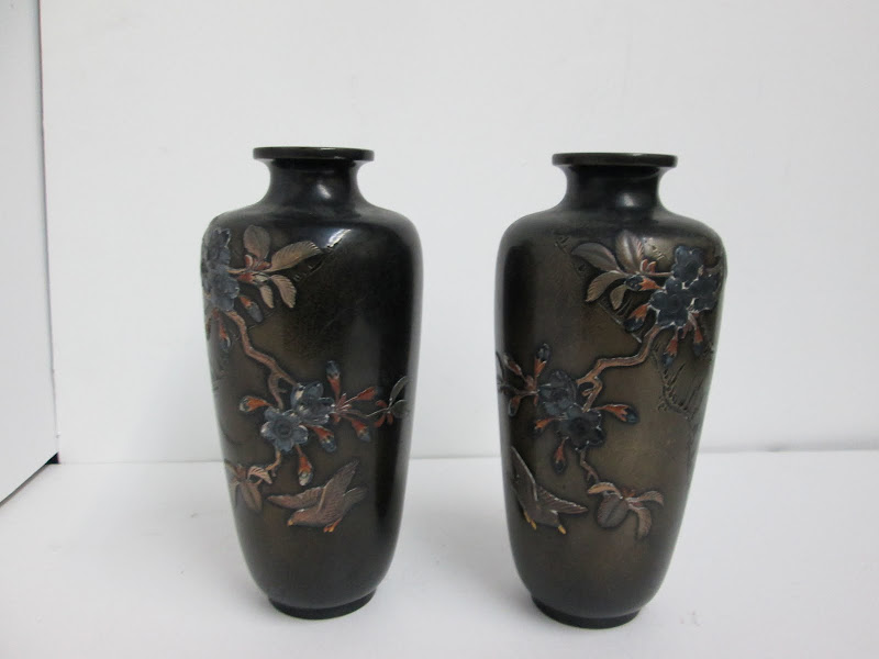 Asian Vase Pair