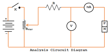 Analysis circuit diagram of PN Junction diode