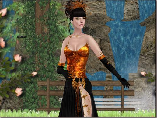 G&T Creations Sparkel gown orange gold_003