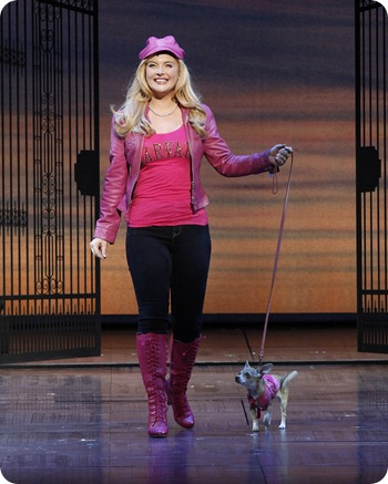 Lucy Durack as Elle with Bruiser in LEGALLY BLONDE (c)