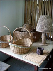 Villar Foundation: Hyacinth made baskets
