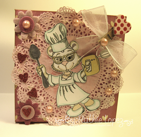 Latinas Arts and Crafts - Stitchy Bear´s Digi Outlet -  BeeBee - BBKakes - Ruthie Lopez DT - Treat Box - Valentine´s Box 2