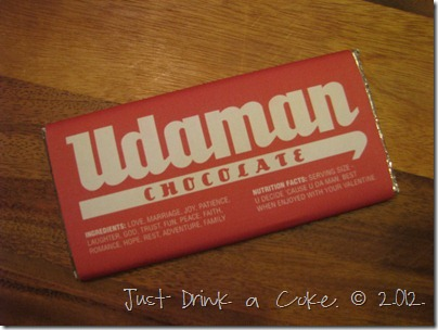 udaman candy bar wrapper