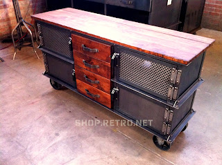 """65"""" wide Ellis console with 4 doors/4 drawers"""