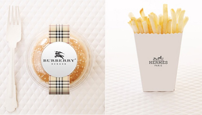 Mc Donald's - Hamburger Burberry e Batatinhas Hermés